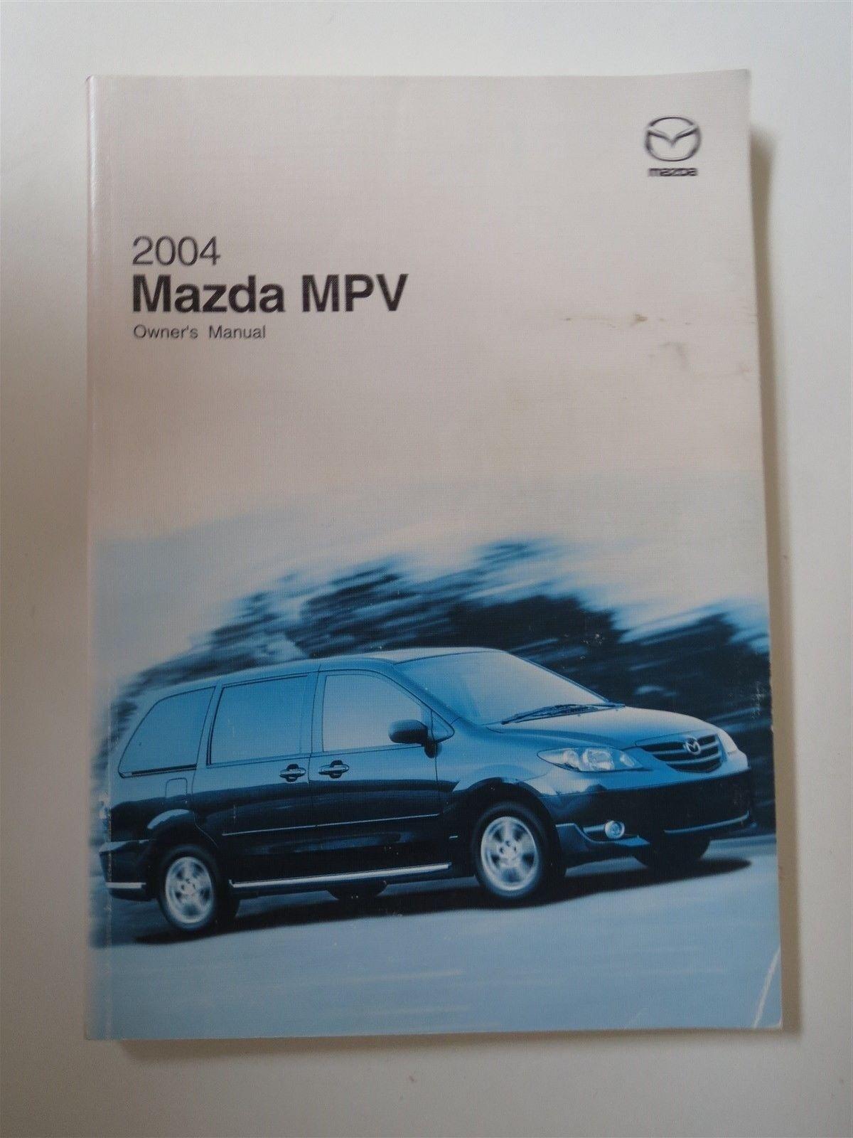 2004 MAZDA MPV MODELS FACTORY ORIGINAL OWNERS MANUAL HANDBOOK
