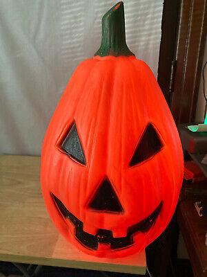"Vintage Empire Jack O Lantern 23"" Inch Pumpkin Blow Mold Halloween Yard Light Up"