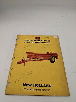 New Holland Service Parts Catalog 475 Manure Spreader 7-60
