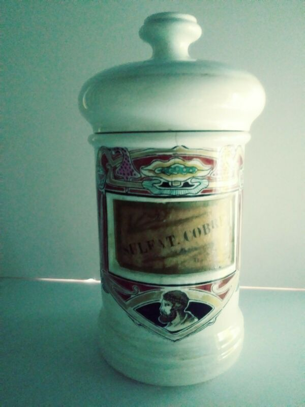 antique apothecary jar porcelain