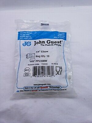 Pack Of 10 - John Guest Pp0308w Speedfit 14 Od Union Elbow Fitting New