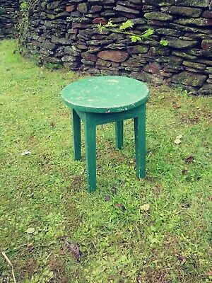 Shabby chic Vintage stool, plant stand, table. Lamp stand.
