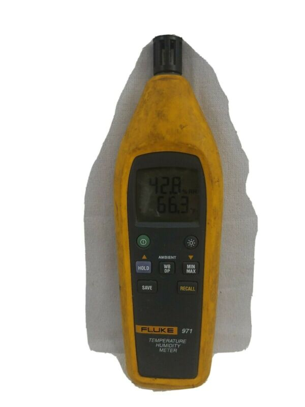 Fluke 971 temperature Humidity Meter with cover GOOD Working CONDITION