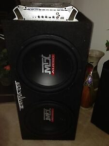 "2 12"" MTX Audio in Terminator box"