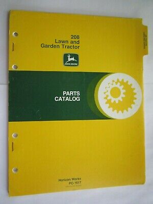 John Deere 208 Lawn Garden Tractor Parts Catalog Manual