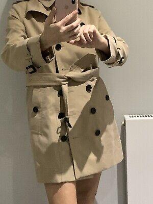BURBERRY Trench Coat Dbl Breasted Size 6-8 Nova Check  PLEASE READ DESCRIPTION