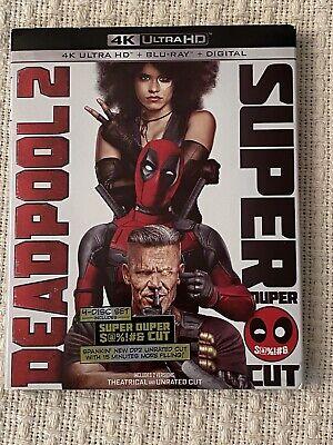 Deadpool 2 4k Blu Ray + Blu Ray + Digital + Slipcover