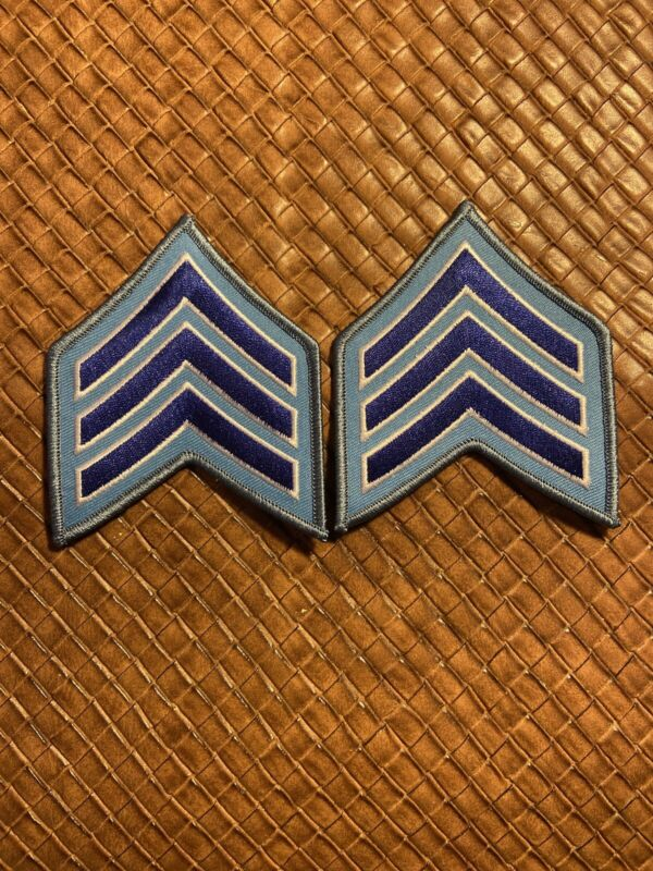 Chicago Police Sergeant 1 Chevron Patches (2)