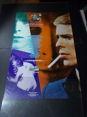 """X   DAVID BOWIE-CHANGES- POSTER PROMOTIONAL 1990  24x32"""""""
