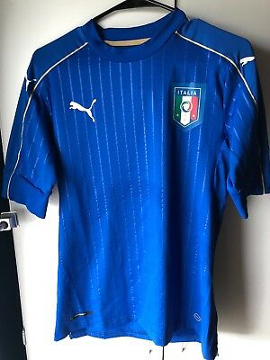 c770524cd Men's Puma FIGC Italy Italia Authentic Soccer Jersey 748828-01 Large NWT  $175
