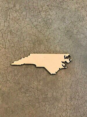 North Carolina, NC, Laser Cut Wood, Sizes up to 5 ft, Multiple Thickness, State