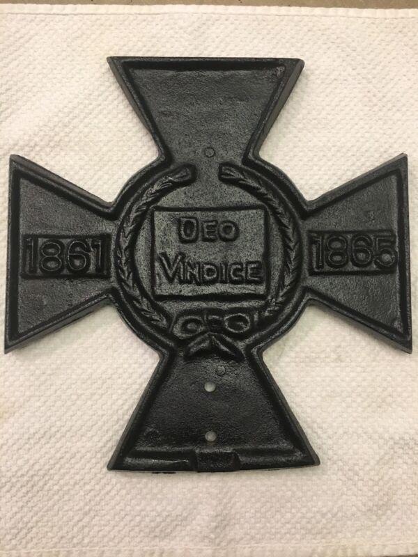 Iron Cross Grave Marker