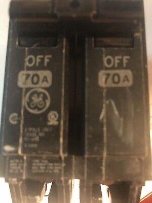 Thql2170 Ge Molded Case Circuit Breaker 2 Pole 70 Amp 120240v New
