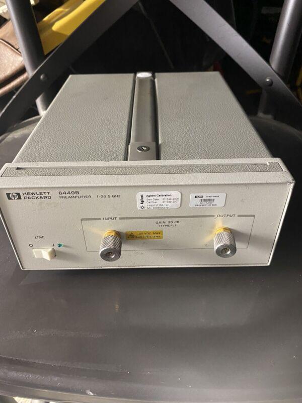 HP 8449B Microwave Preamplifier 1GHz-26.5GHz