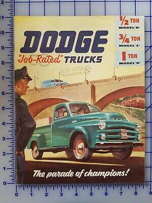 1953 Dodge Pickup Truck Brochure Model B C D