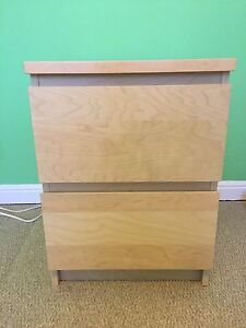 Ikea Malm 2 drawer chest nightstand