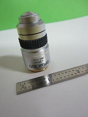 Optical Microscope Objective Olympus Japan Dplan 100x Optics Bin5b-93