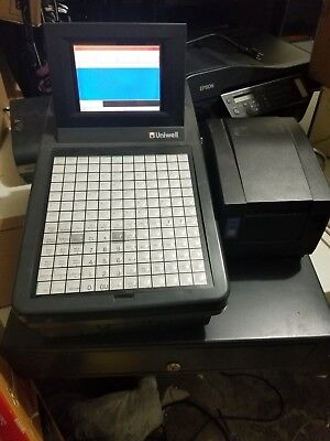 Uniwell Sx-805 Cash Registercitizen Cbm 1000 Thermal Receipt Printer Drawer