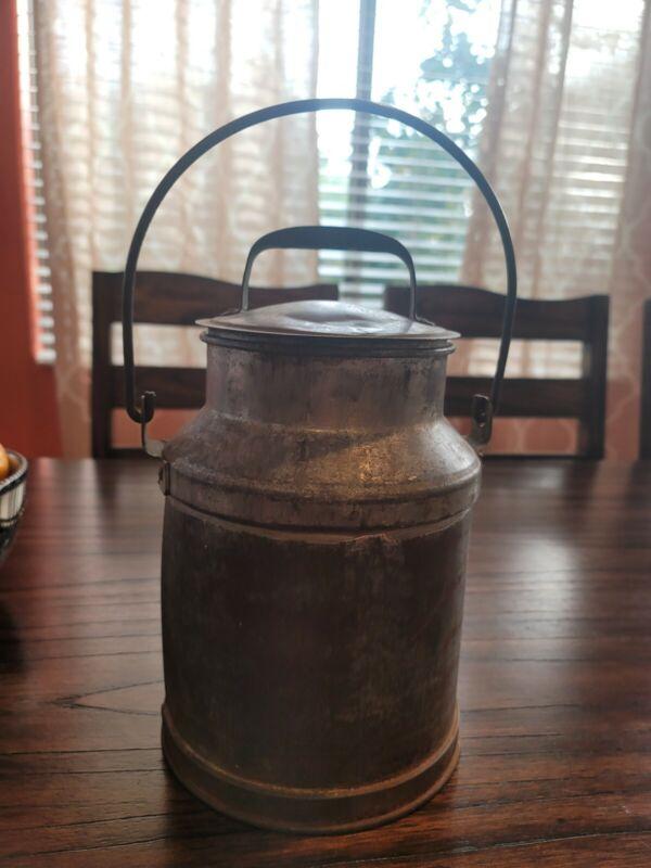 Vintage Galvanized Little Milk Can Container