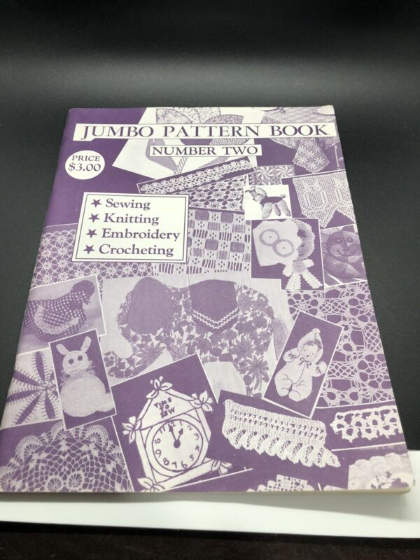 Vintage JUMBO PATTERN BOOK No. 2 Sewing Embroidery Knit Crochet by Tower Press