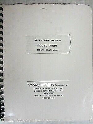 Wavetek Model 3520 Signal Generator Operating Manual
