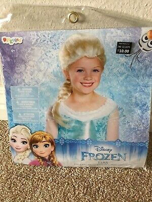 Disney Princess Frozen Elsa Blonde Child Wig Hair Halloween Dress Up Costume New