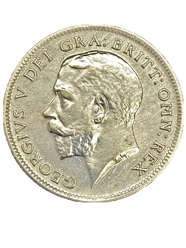 1913 Silver Great 6 Britain Pence AU