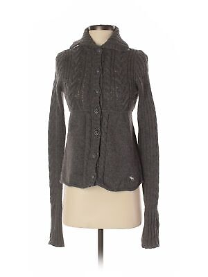 Abercrombie & Fitch Women Gray Cardigan M