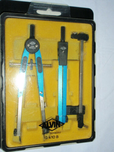 Vintage Alvin 0410B Drafting Compass set , made in W Germany