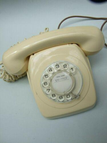 Vintage Cream  Retro AWA Australia  Rotary Dial Telephones 1970