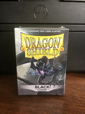 Dragon Shield Sleeves Pack of 100 Standard Size Card Sleeves Black Classic