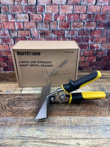 Hurricane 6 inch Straight Jaw Sheet Metal Hand Seamer Non-Slip Pitted Handles