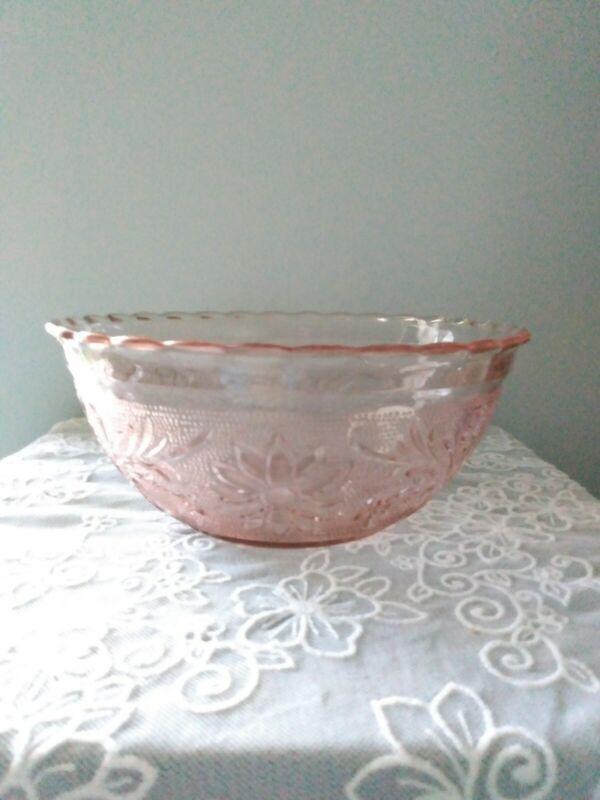 Vintage Tiara Sandwich Pink Depression Glass Serving Bowl