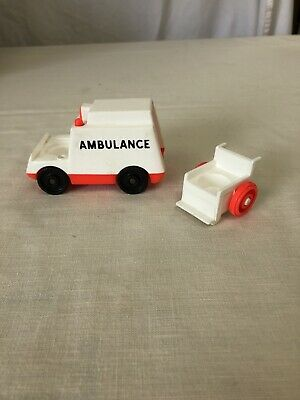 Vintage Fisher Price Little People Ambulance And Wheel Chair