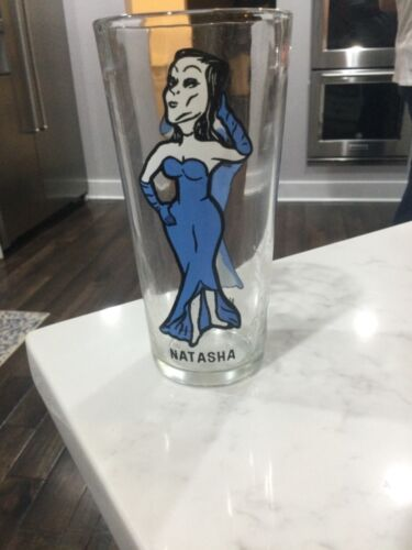Natasha From Bullwinkle Holly Farms Collector Series Glass/1975