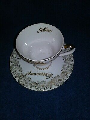 Norcrest 50th Anniversary Tea Cup And Saucer