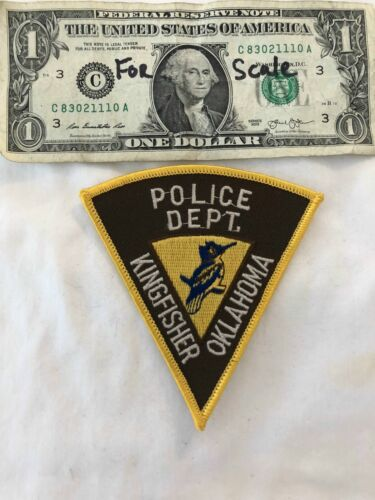 RARE Kingfisher Oklahoma Police Dept. Patch Un-sewn Patches (Very Hard to find)
