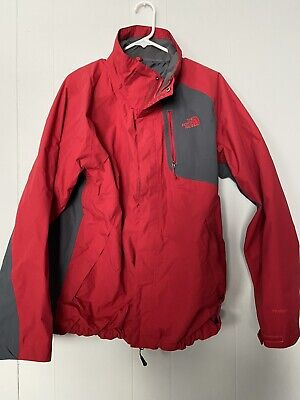 The North Face Men's Red Gray HyVent Coat Jacket Size Large