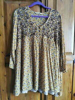 Zara floral embroidered Blouse XL