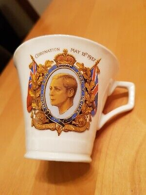 Used, King Edward VIII Coronation 1937 Radfords China Cup for sale  North Ferriby