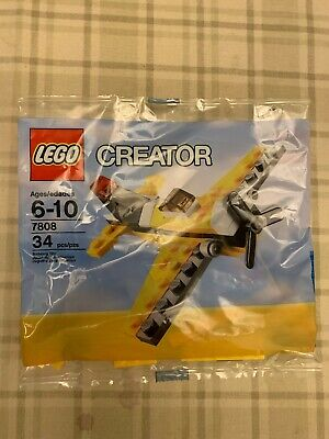 New Lego 7808 CREATOR Yellow Airplane in Poly Bag A2