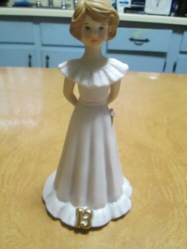 Enesco Growing Up Birthday Girl Figurine (Age 13)