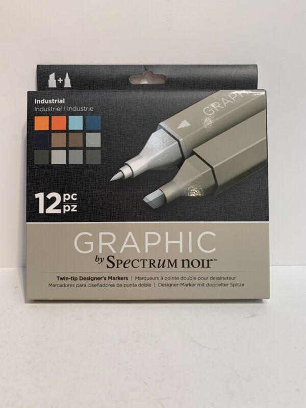 Spectrum Noir Graphic Markers - Industrial (Pack of 12)— FREE SHIPPING