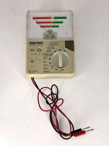 Micronta Radio Shack 22-032A Battery Tester with Cables