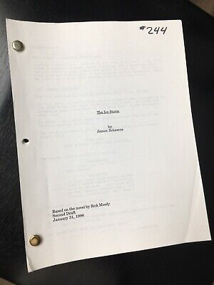 The Ice Storm original vintage feature script -1996 - Ang Lee / Sigourney Weaver