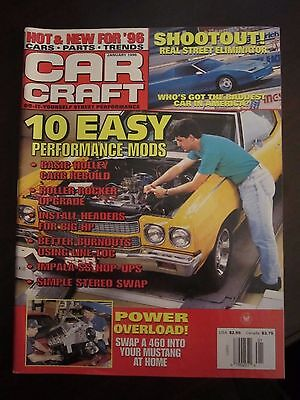 Car Craft Magazine January 1996 10 Easy Performance Mods No Label (Easy January Crafts)