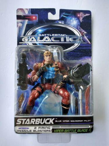 1996 TRENDMASTERS BATTLESTAR GALACTICA STARBUCK ACTION FIGURE - MOC