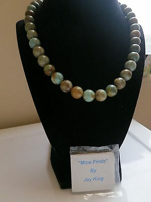 MINE FINDS by JAY KING HSN NATURAL TURQUOISE 12MM BEAD NECKLACE