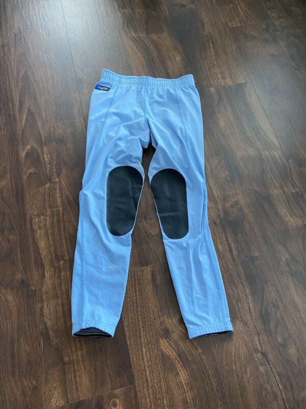 Irideon Riding Wear Issential Riding Kids Tights Blue Size Large