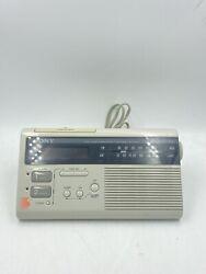 Sony ICF-C220W Dream Machine Radio AM/FM Vintage Dual Alarm Digital Clock Works